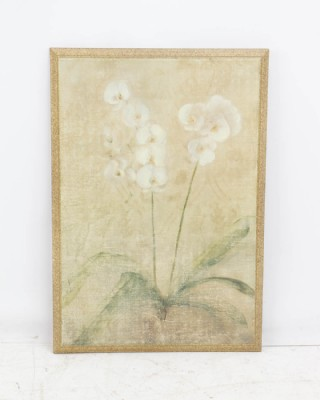 Floral Print on Wooden Canvas