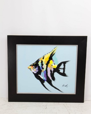 Vibrant Angel Fish Painting