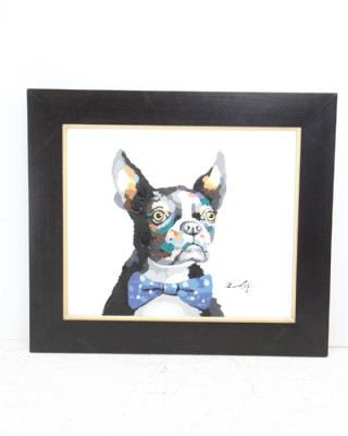 Fancy Boston Terrier Painting