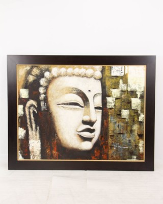 Abstract Buddha Head Statue Painting