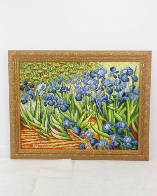 Vincent Van Gogh Irises Garden Rendition