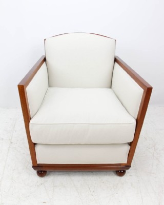 Ribbon Mahogany Paneled Arm Chair
