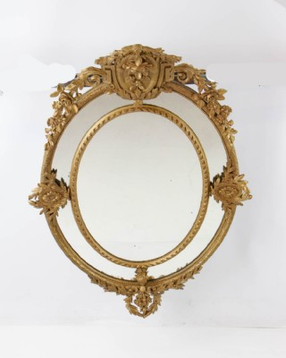 Gilded Rose Wall Mirror