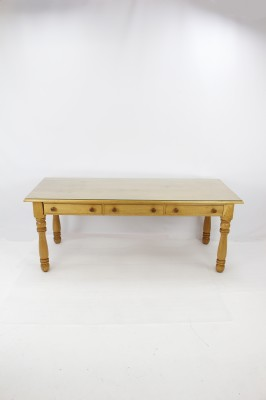 Solid Oak Desk with Glass Top