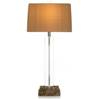 COLONIAL Brown/Beige/Tan Marble Glass Table Lamp