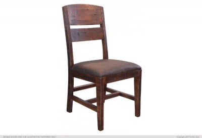 Faux Leather Seat Dining Chair