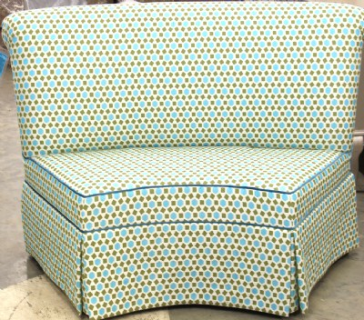 Curved Upholstered Sloan Banquette