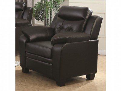 Finley Black Leatherette Chair