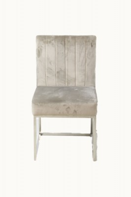Suede Chair With Steel Legs