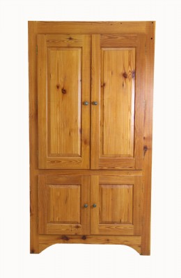 Large Cabinet With Natural Stain