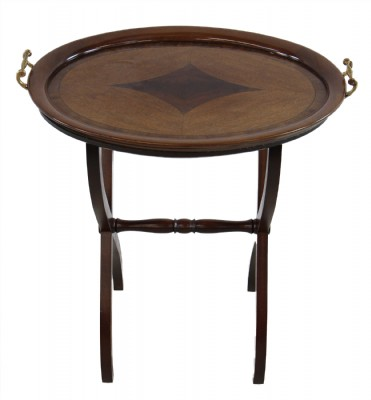 Inlaid Wooden Butler's Tray