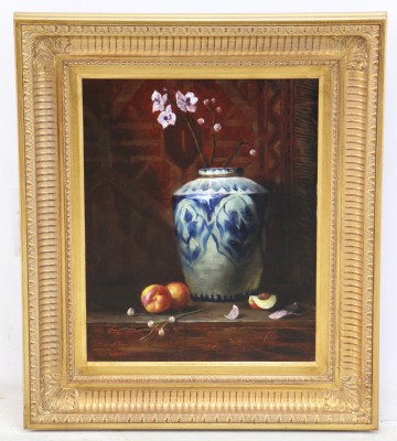 Original Oil of A Vase with Flowers