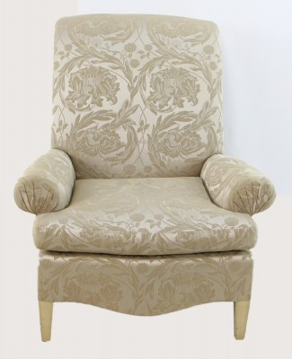 Golden Floral Arm Chairs
