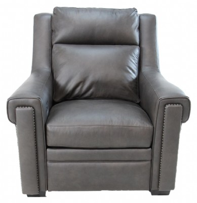 Leather Motion Recliner with Power Headrest