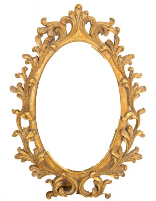 Ornate Gold Framed Oval Wall Mirror