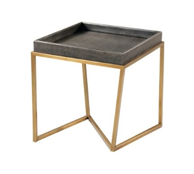 TRAY SIDE TABLE IN TEMPEST FINISH.