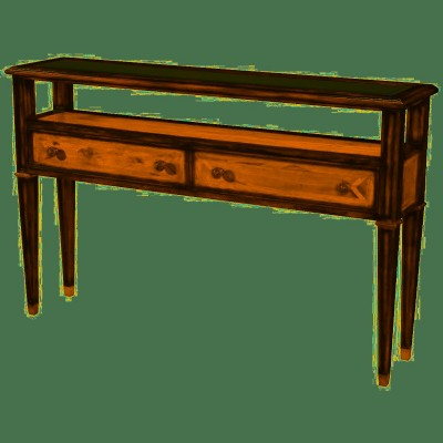 MAHOGANY,OAK, PARAWOOD CONSOLE TABLE