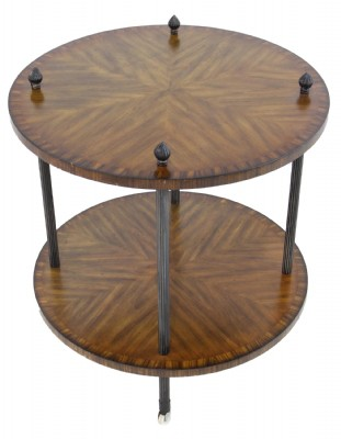 Inlaid Round wooden Occasional Table