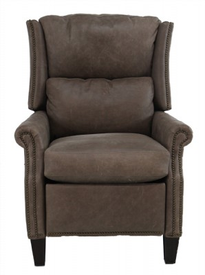 Leather Power Recliner w Battery