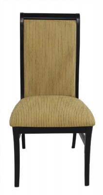 Black Wooden Frame Upholstered Side Chair