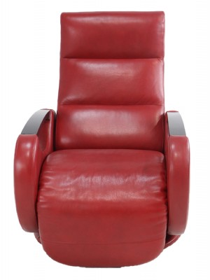 Red Leather Swivel Recliner