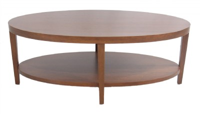 Oval Wooden Cocktail Table