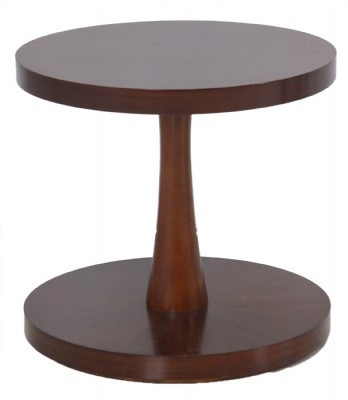 Round Wooden Pedestal End table
