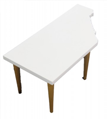 White Lacquered Cocktail Table