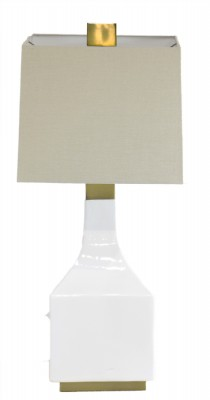 Square White Ceramic Lamp
