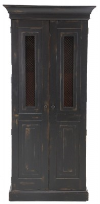 Black Painted Wine Cupboard