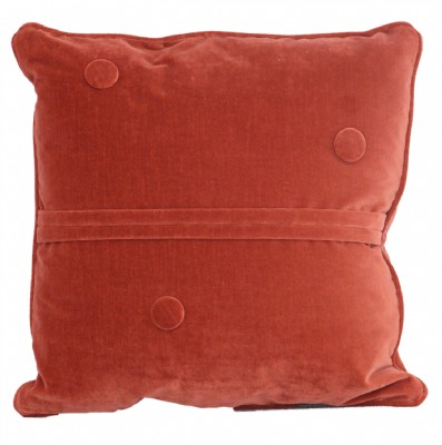 3 Button Burnt Orange  Down Filled  Pillow