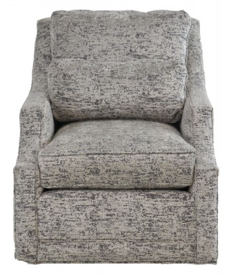 Grey Upholstered Swivel Armchair