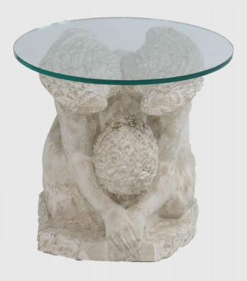 Crouching Angel Glass Top Table