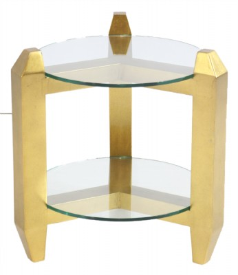 Two Tier Gold Table