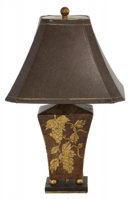 Cinnabar Tole Table Lamp