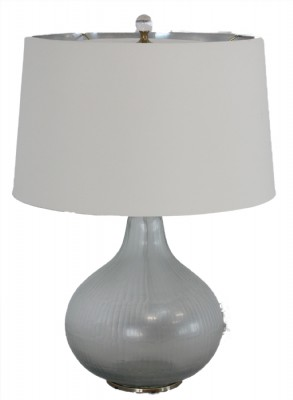 Silver Glass Gourd Shaped Table Lamp
