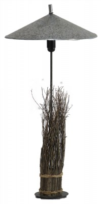 Twig Table Lamp with Tin Shade