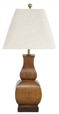 Solid Wood Contemporary Table Lamp