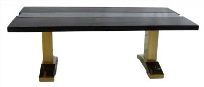 Cutom Made Wood & Glass Dining Table