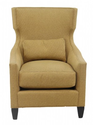 Transitional Upholstered Wing Chair