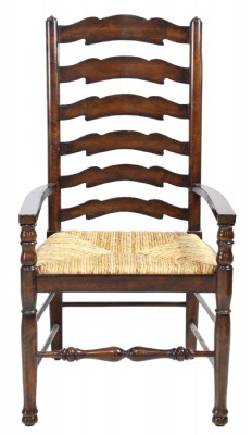 Ladderback Armchair with Rush Seat