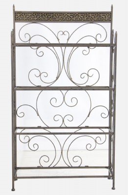 Metal and Glass Baker's Rack