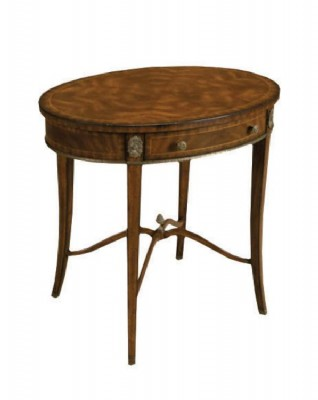 MAHOGANY OVAL OCCASIONAL TABLE