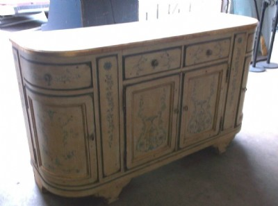 Century Hand Painted Duport Credenza