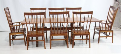 CustomTrestle Dining Set By Larry Hepler