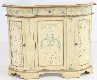 Faux Painted Console Cabinet