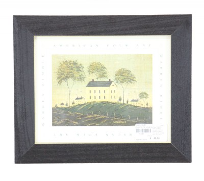 Small White House on Hill Print