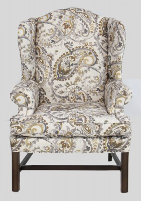 Beige Pattern Fabric Chair