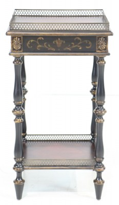 Ornate Painted Wooden Occasional Table