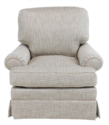 Grey Textured Swivel Chair